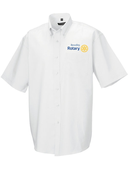 Oxford Style Shirt -Male- White (933M) Bewdley Rotary