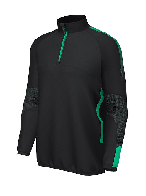 Pro Mid layer 1/4 Zip E868 (Black / Green)