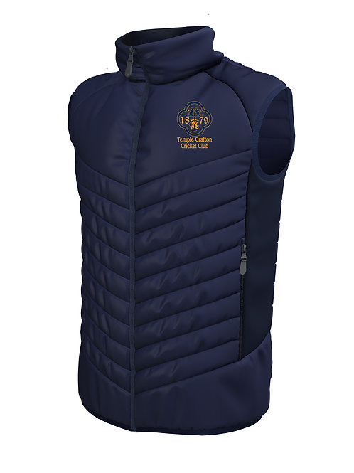 Padded Gilet (E870) Navy - Temple Grafton CC