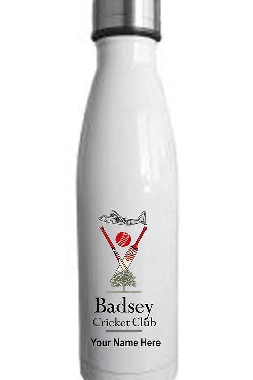 Water Bottle (inc name) White - Badsey CC