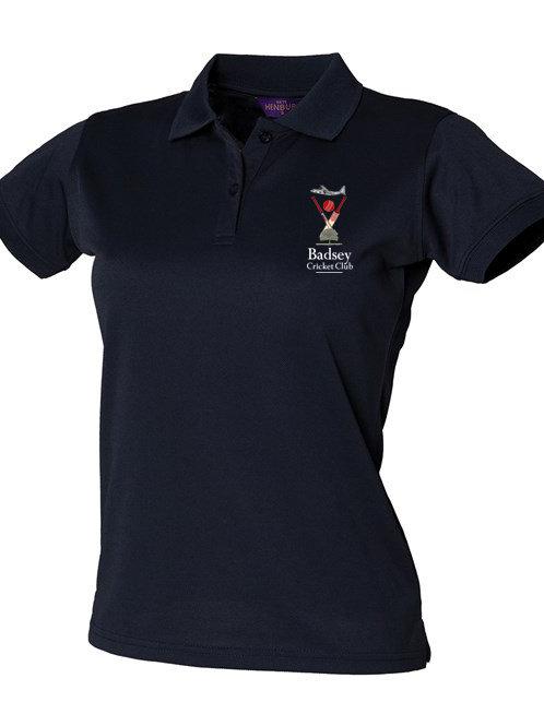 Lady Fit Polo Shirt (HB476) Navy - Badsey CC