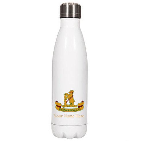 Water Bottle (inc name) - White - Olton & WW CC