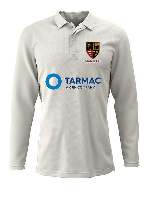 Cricket Shirt L/S (H2) - Cream - Shifnal CC