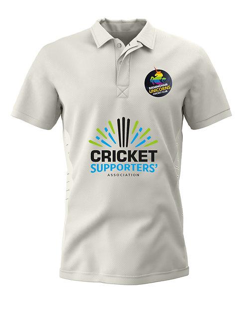Cricket Shirt S/S (H1) Cream - Birmingham Unicorns CC