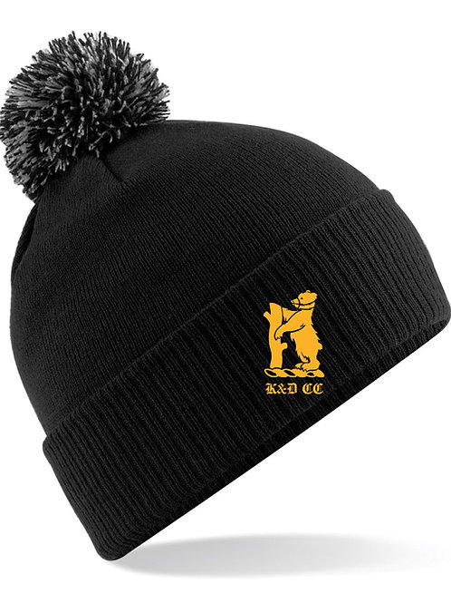 Bobble Hat (B450) - Black - Knowle & Dorridge