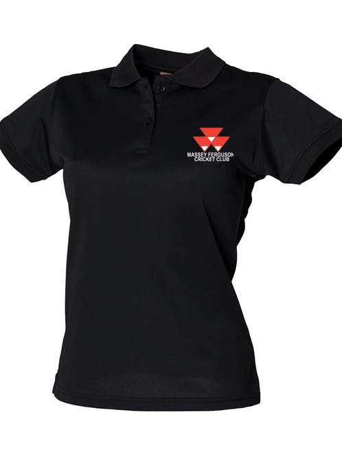 Ladies Fit Polo (HB476) - Black - Massey Ferguson CC