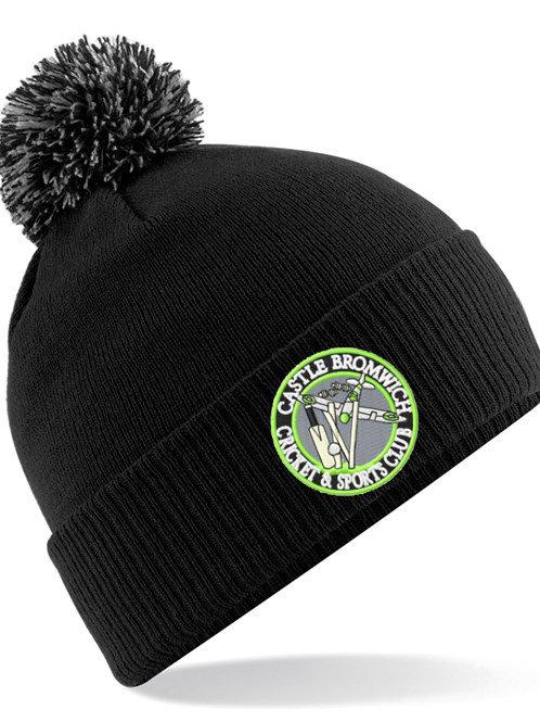Bobble Hat (B450) Black - Castle Bromwich CC