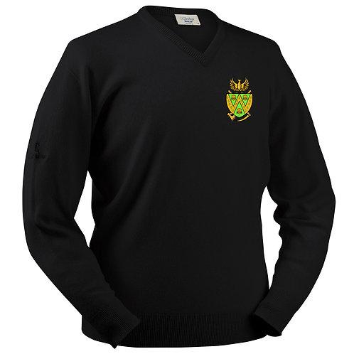Glenbrae V Neck Lambswool Sweater - Black - Wem