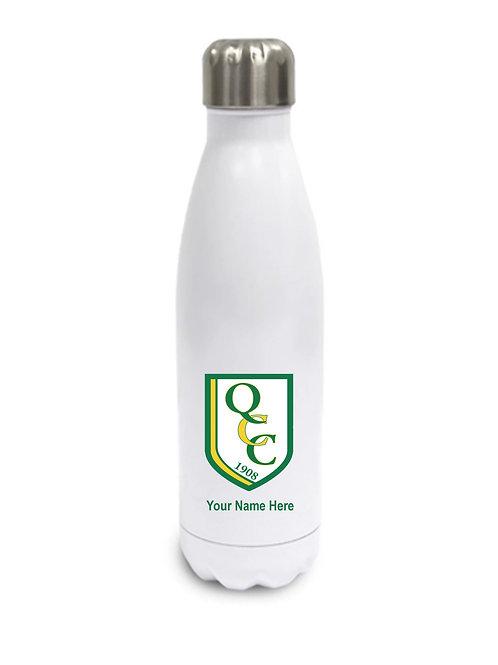 Water Bottle (inc name) White - Quatt CC