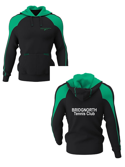 Hoodie Senior, Black/Green (H650) Bridgnorth Tennis Club