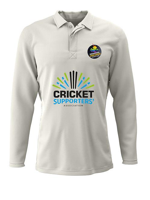 Cricket Shirt L/S (H2) Cream - Birmingham Unicorns CC