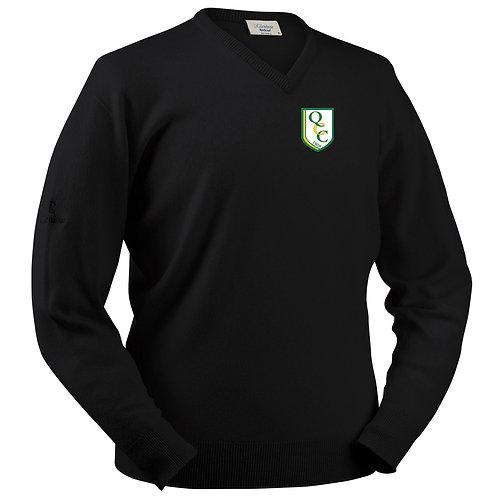 Glenbrae V Neck Lambswool Sweater - Black - Quatt CC