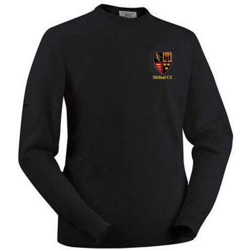 Glenbrae Round Neck Lambswool Sweater - Black - Shifnal CC