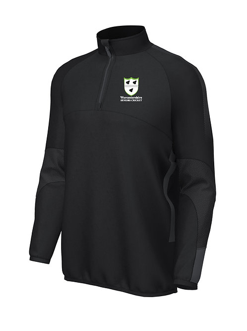 Pro Mid Layer 1/4 Zip Black  Worcs Seniors