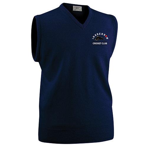 Glenbrae Slipover Lambswool Sweater - Navy - Inkberrow CC