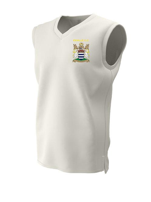 Cricket Slipover (C6) Cream - Enville CC