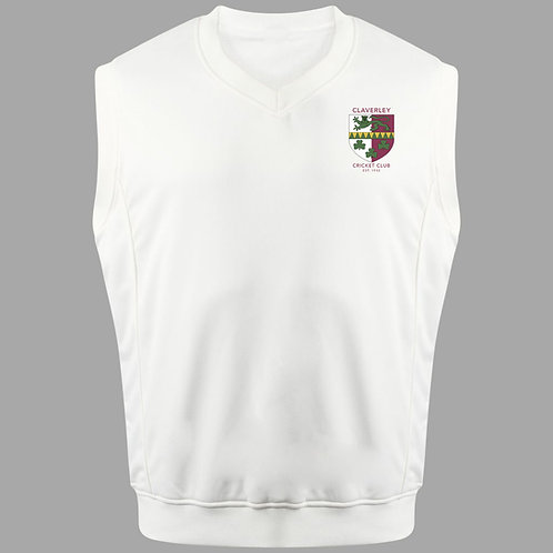 Cricket Slipover (C6) Cream - Claverley CC