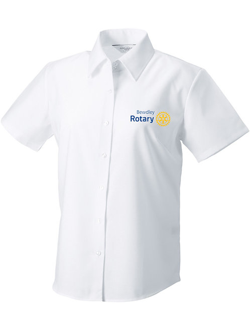 Oxford Style Shirt Female - White (933f) Bewdley Rotary