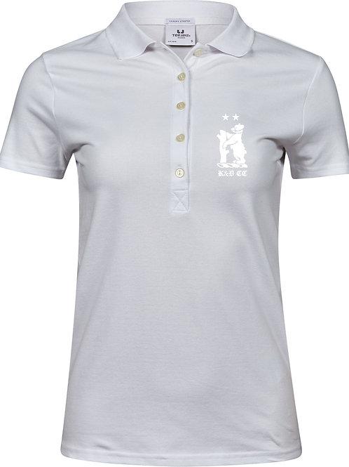 Ladies Polo Shirt (TJ145) White - Knowle & Dorridge