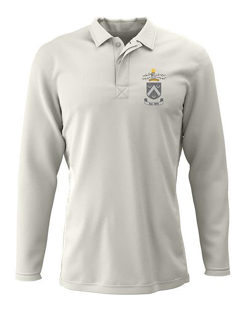 Cricket Shirt L/S (H2) Cream - Hagley CC