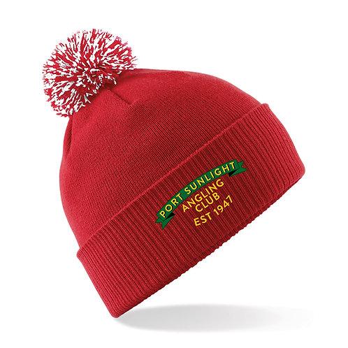 Bobble Hat (B450) Red - PSAC