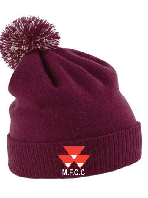 Bobble Hat (B450) Maroon - Massey Ferguson CC