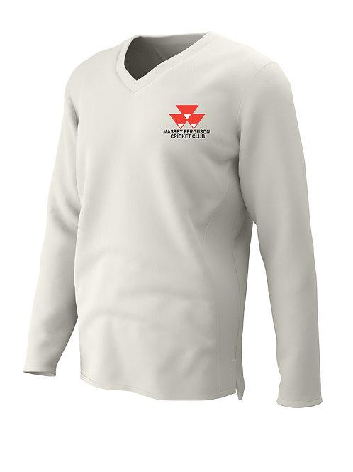 Cricket Sweater L/S (C7) - Cream - Massey Ferguson CC