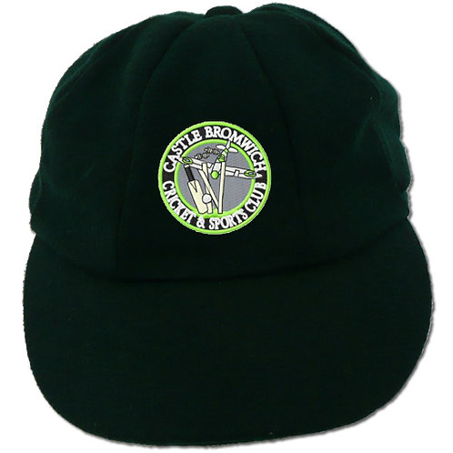 Traditional Cricket Cap - Green - Castle Bromwich CC