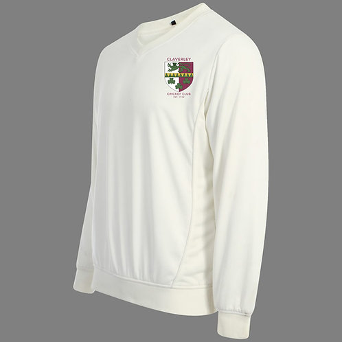 Cricket Sweater (C7) L/S - Cream - Claverley CC