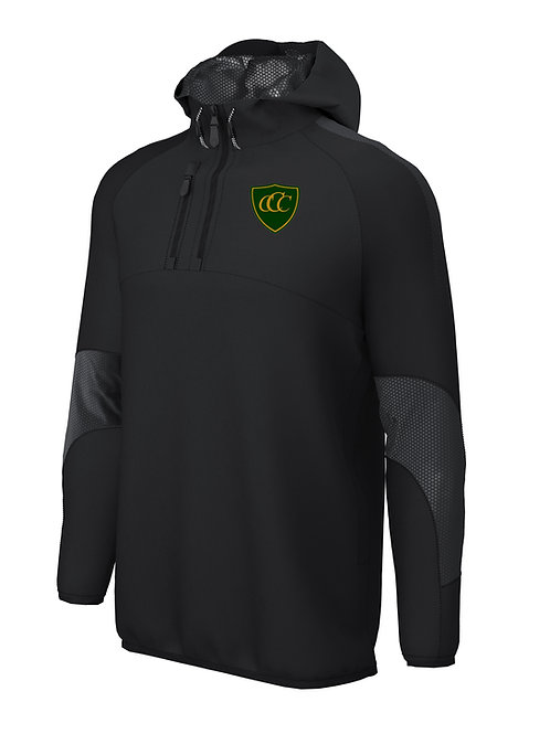 1/4 Zip Shell Jacket (E873) - Black - Chelmarsh