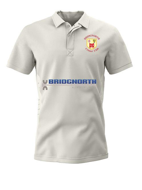Junior Cricket Shirt (H1) - Cream - Bridgnorth CC