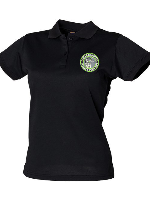 Lady Fit Polo Shirt (HB476) - Black - Castle Bromwich CC