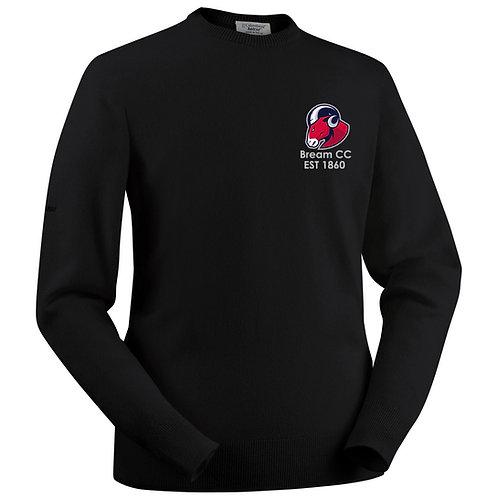 Glenbrae Round Neck Lambswool Sweater - Black - Bream CC