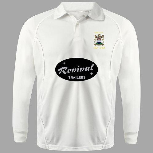 Cricket Shirt (H2) L/S - Cream - Enville CC