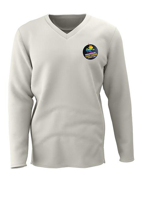 Cricket sweater L/S (C7) Cream - Birmingham Unicorns CC