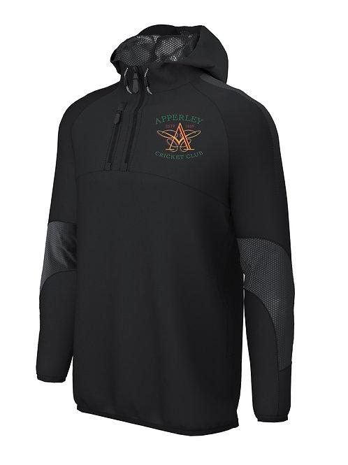 1/4 Zip Shell Jacket (E873) - Black - Apperley CC