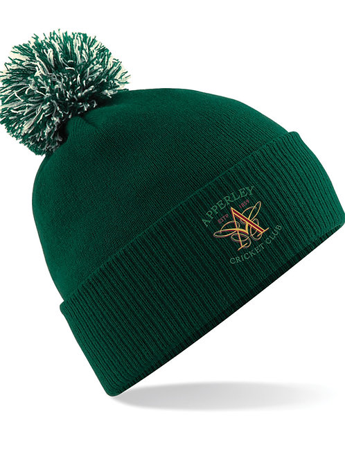 Bobble Hat (B450) Green - Apperley CC