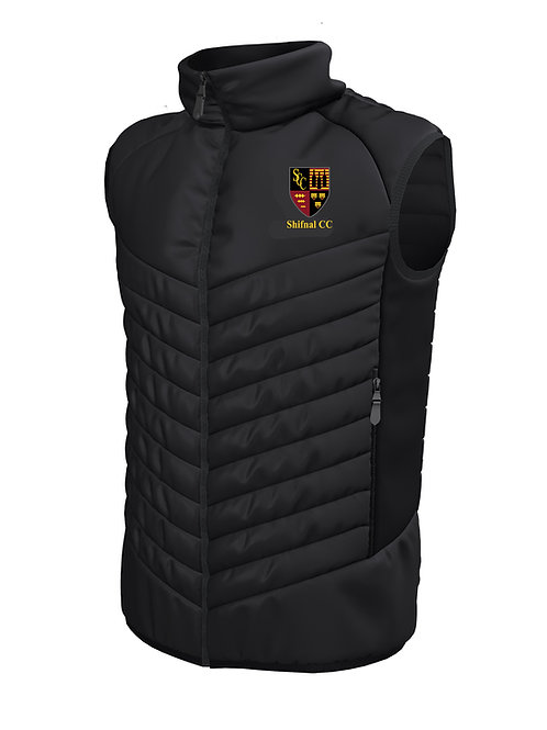 Padded Gilet (E870) - Black - Shifnal CC