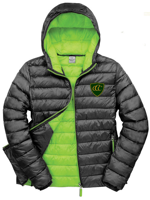 Padded Coat Men's, (R194M) Black/Green, Chelmarsh