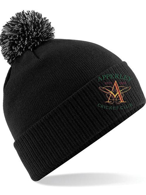 Bobble Hat (B450) - Black - Apperley CC
