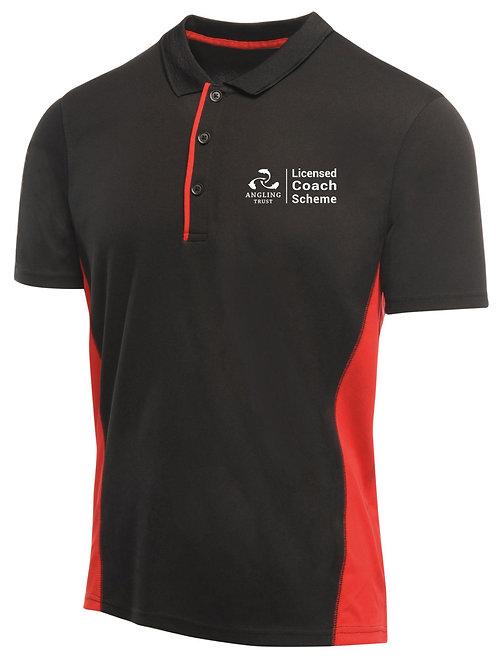 Polo Shirt, Men's Black/Red