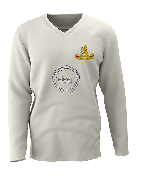 Cricket Sweater L/S (C7) Cream - Olton & WW CC