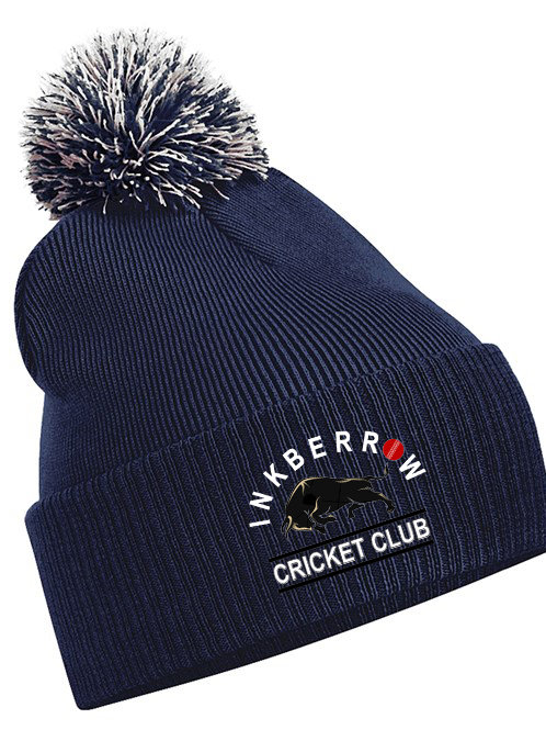 Bobble Hat (B450) Navy - Inkberrow CC