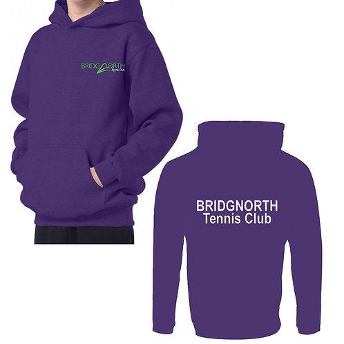 Hoodie Junior, (RK74) Purple, Bridgnorth Tennis Club