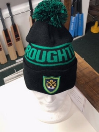 Bobble Hat with Club Name - Black/Green - Belbroughton