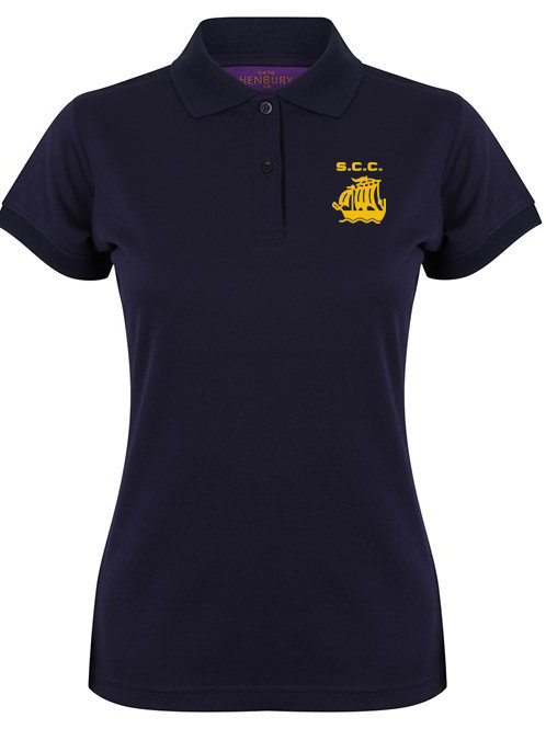 Ladies Fit Polo Shirt (HB476) Navy - Stourport CC