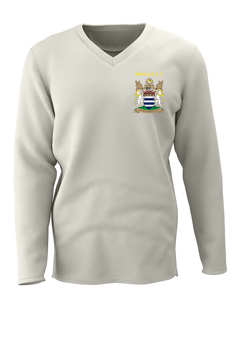 Cricket Sweater (C7) L/S - Cream - Enville CC