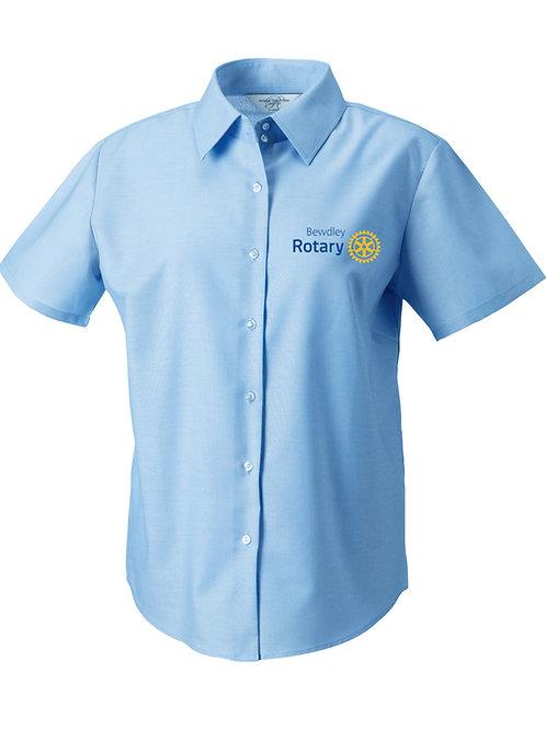 Oxford Style Shirt- Female- Blue (933F) Bewdley Rotary