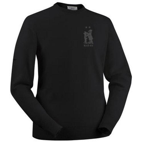 Glenbrae Round Neck Lambswool Sweater - Black - Knowle & Dorridge