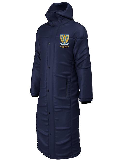 Bench Coat (E827) Navy - Shropshire County Hockey